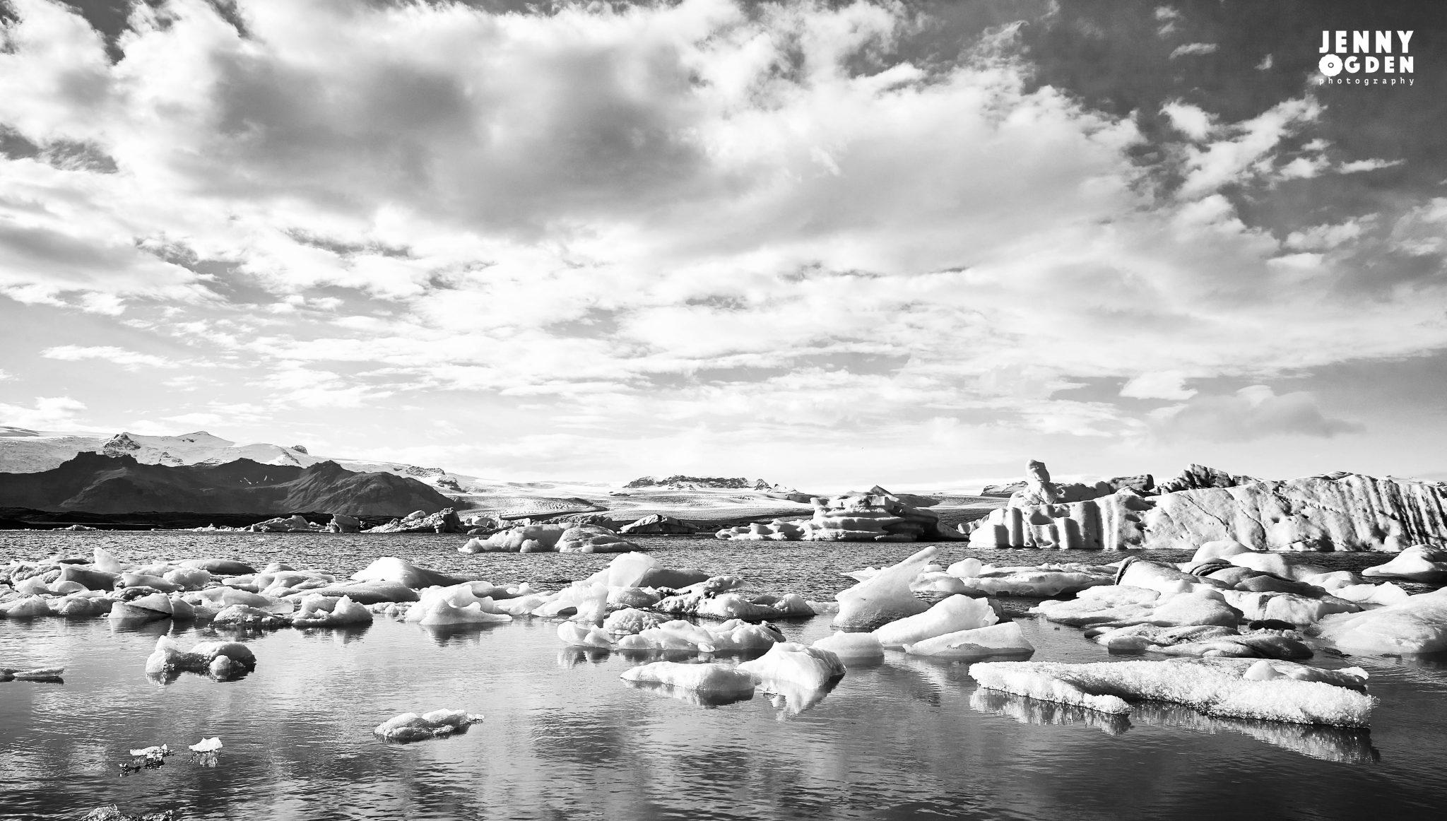 Landscape photographs of Jökulsárlón Iceland